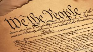 Constitution Preamble in Script